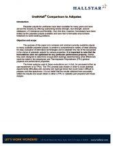 thumbnail of UrethHall® Comparison to Adipates